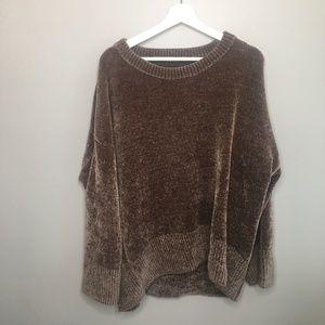 Zara Brown Chenille Sweater